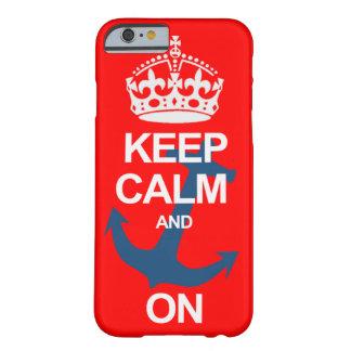 Röd behållalugn och bär på fodral för Sailng Barely There iPhone 6 Skal
