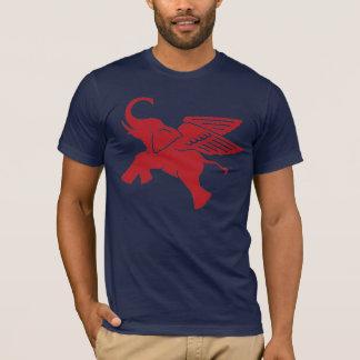 Röd bevingad elefant t-shirt