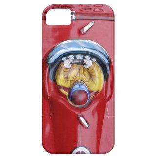 Röd bil för tävling för vintagetinleksak iPhone 5 fodral