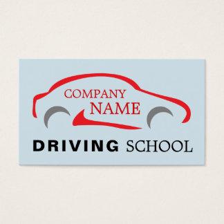 Röd billogotyp, körningsinstruktör visitkort