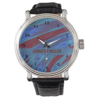 Röd blåttfärgSwish Armbandsur