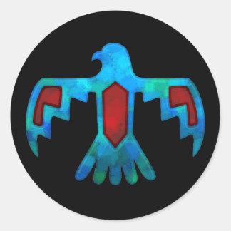 Röd & blåttThunderbirdklistermärke Runt Klistermärke