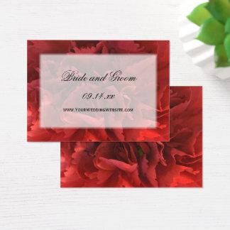 Röd blom- bröllopWebsite Visitkort