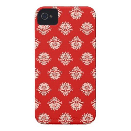 Röd blom- damastast blackberry fodral