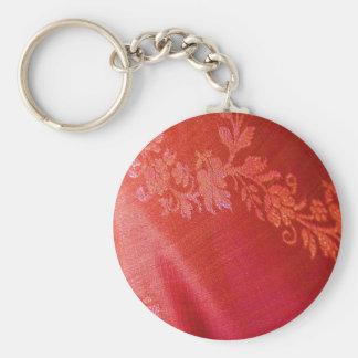 Röd blom- elegans Keychain - anpassade Nyckelring