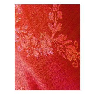 Röd blom- elegans mig vykort - anpassade