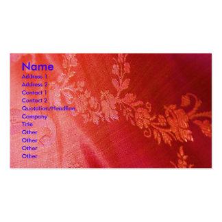 Röd blom- eleganskonstnärvisitkort