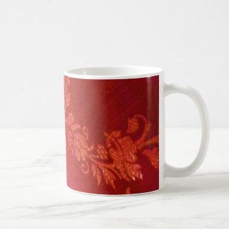 Röd blom- elegansmugg - anpassade kaffe muggar