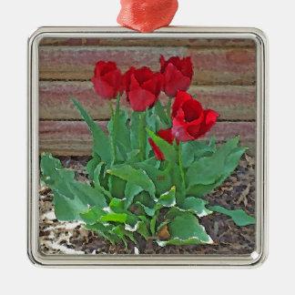 Röd blom för tulpanblommaPetals vid SD Kelley Julgransprydnad Metall