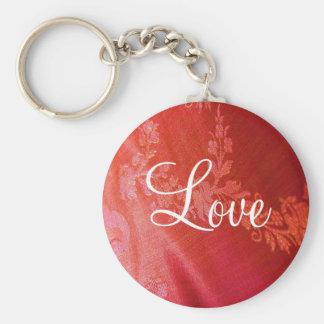 Röd blom- valentin Keychain - anpassade Nyckelringar