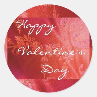 Röd blom- valentin mig klistermärke - anpassade