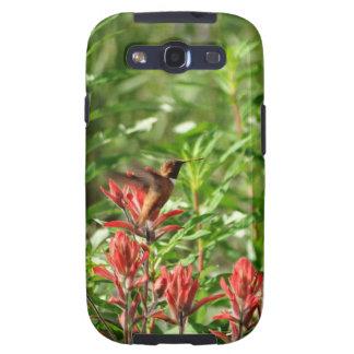Röd blomma för Hummingbirdfågel Galaxy SIII Hud