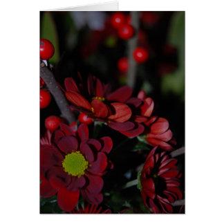 Röd blomma hälsningskort