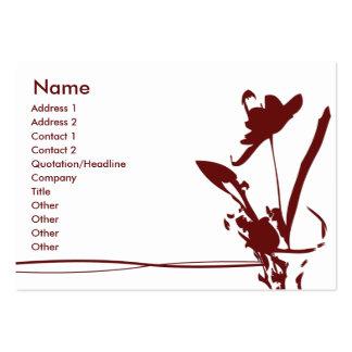 Röd blomma - knubbig visitkort