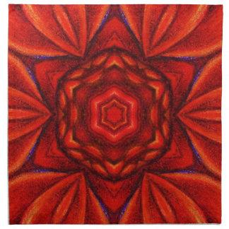 Röd blomma - middagservetter tygservett