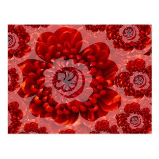 Röd blommaresa - fantasidyrkanvärld vykort