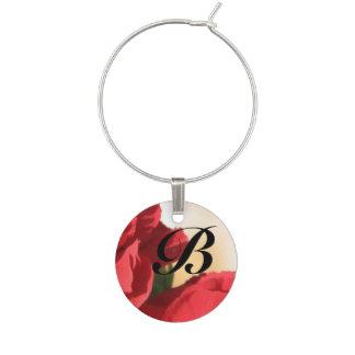 Röd blommigt för Monogram Berlock Vinglas