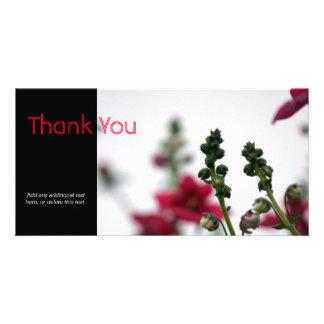 Röd blur - blom- fotografi fotokort