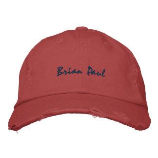 Röd Brian Paul förstörd vintagehatt Broderade Baseball Kepsar