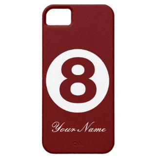 Röd bruntgrönt numrerar fodral åtta iPhone 5 fodral