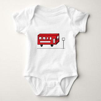 Röd buss t shirts