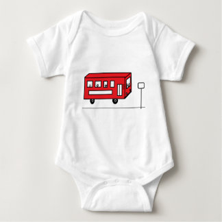 Röd buss tee