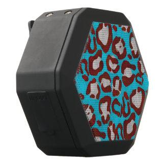 Röd Cheetah för fluorescerande blått Svart Bluetooth Högtalare