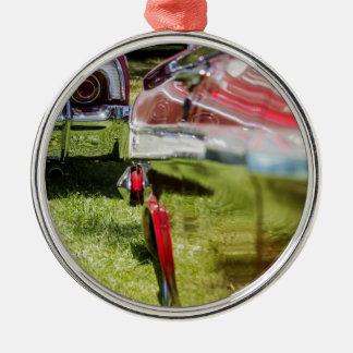 Röd Chevy Impalareflexion Julgransprydnad Metall