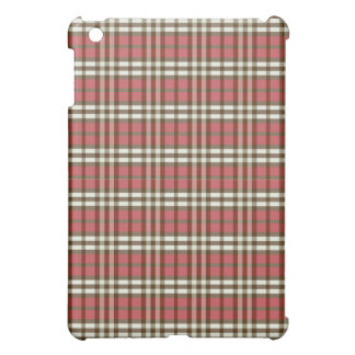 Röd/chokladpläd Pern iPad Mini Mobil Fodral