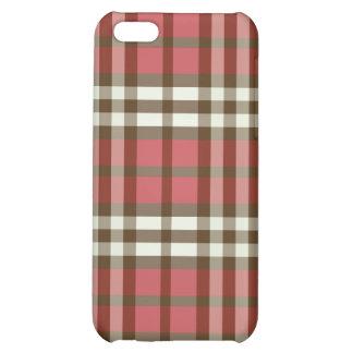 Röd/chokladpläd Pern iPhone 5C Skydd