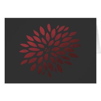 Röd Chrysanthemum OBS Kort