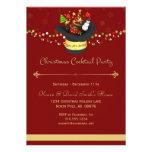 Röd cocktailpartyinbjudan för jul individuella inbjudningskort