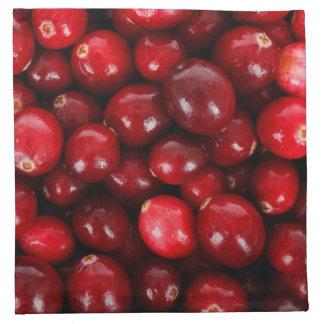 Röd cranberry tygservett