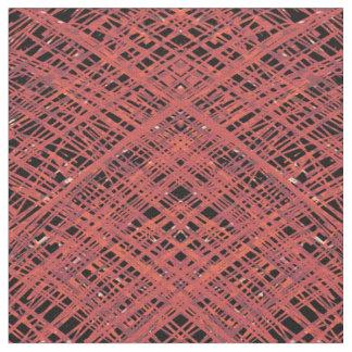 Röd Crosshatch Tyg