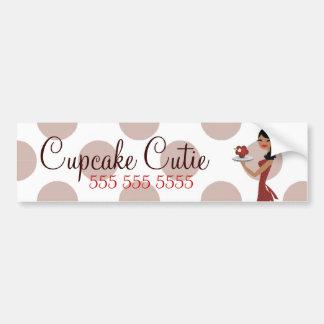 Röd Cutie för muffin 311 person som tillhör en etn Bildekal