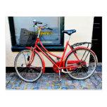 Röd cykel, Köpenhamn, Danmark Vykort