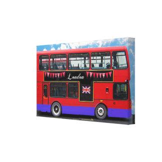 Röd däckare för London bussdubbla Canvastryck