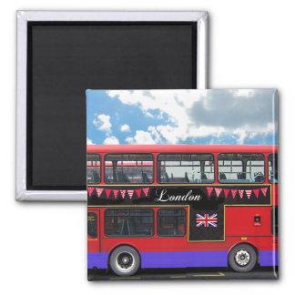 Röd däckare för London bussdubbla Kylskåpmagneter
