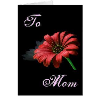 Röd daisy för lycklig mors dag II Hälsningskort