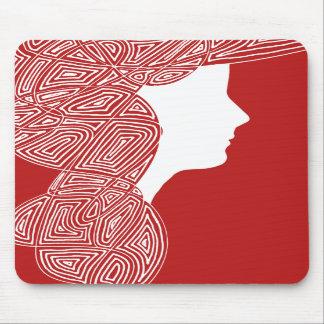 Röd dam Mousepad Musmatta