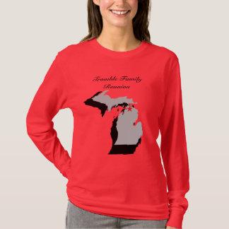 Röd damlångärmad t-shirt