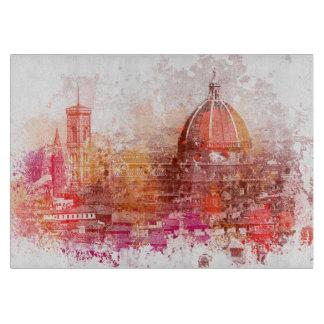 Röd design för vattenfärg för Florence domkyrkaita