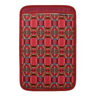 Röd design. Kvadrera det eleganta mönster MacBook Air Sleeve