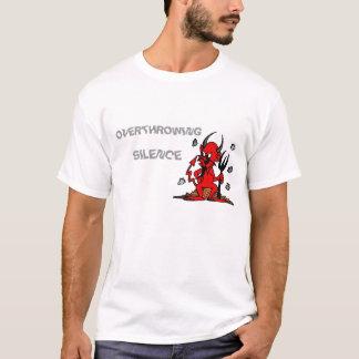röd deviol som OMSTÖRTAR, TYSTNAD Tshirts