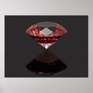 Röd diamantruby poster