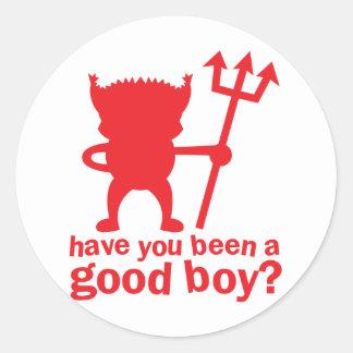 RÖD DJÄVULEN har vara dig en bra pojke? Runt Klistermärke
