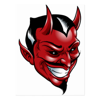 Röd djävulen vykort