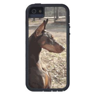 Röd Doberman Potrait (v9-2) iPhone 5 Case-Mate Fodraler