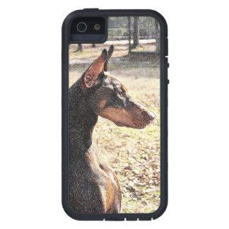 Röd Doberman (v-impr) iPhone 5 Case-Mate Fodraler