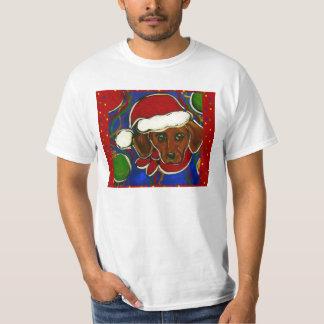 Röd Doxie julT-tröja Tshirts